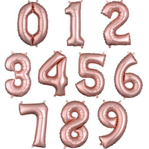 """34"""" Rose Gold Numbers"""