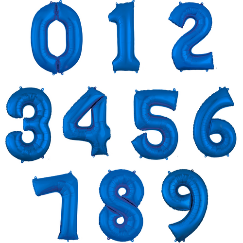 """34"""" Blue Numbers"""