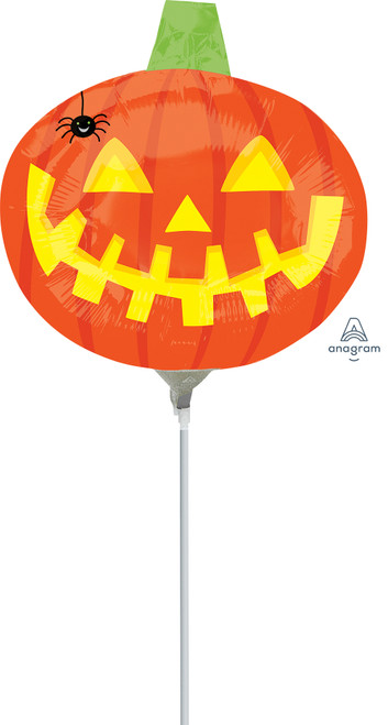"14"" Pumpkin with Spider - AIR FILL"