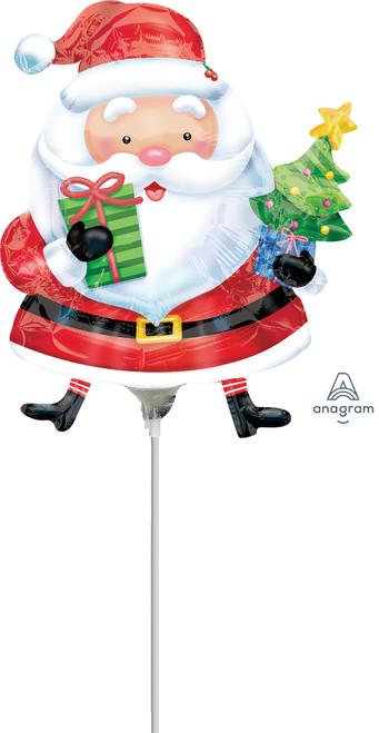 """14"""" Santa With Tree - AIR FILL"""
