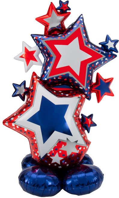 "59"" Patriotic Star Cluster AirLoonz"