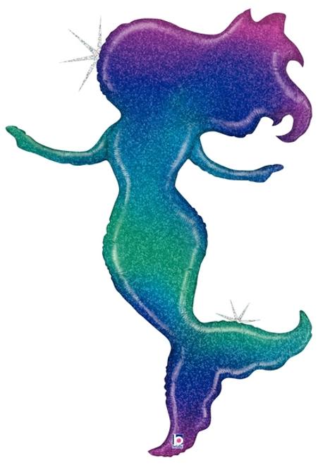 "52"" Glitter Holographic Mermaid"