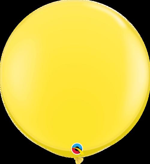 "36"" Qualatex Yellow Latex Balloons - 2 Ct."