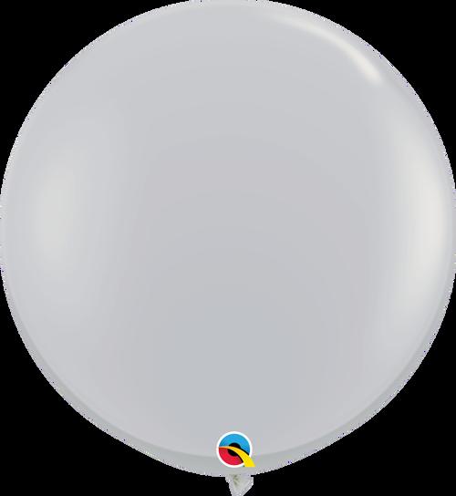 "36"" Qualatex Gray Latex Balloons - 2 Ct."