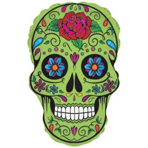 """12"""" Sugar Skull Lime - AIR FILL"""