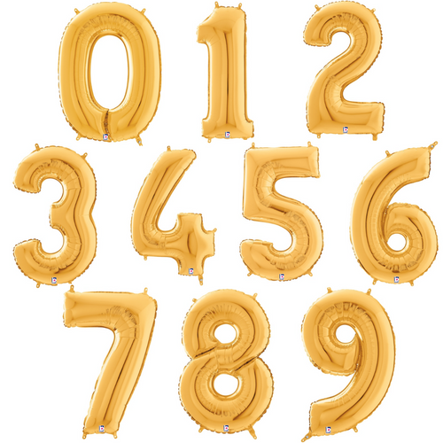 """14"""" Gold Numbers - AIR FILL"""