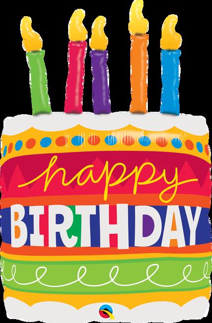 "35"" Birthday Cake & Candles"