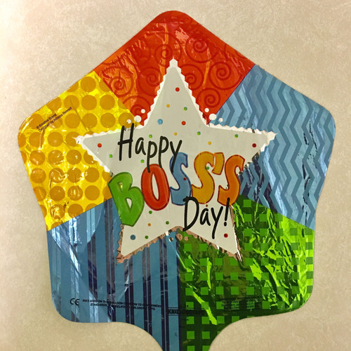 """9"""" Boss's Day Patterned Star - AIR FILL"""