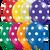 "11"" Qualatex Big Polka Dots Jewel Assortment - 50 Ct."