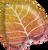 "21"" Fall Glittergaphic Ombre Leaf"
