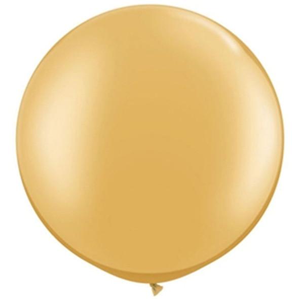 "30"" Qualatex Metallic Gold 2 ct"