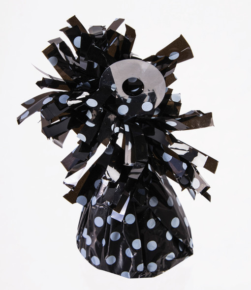 Black with White Polka-dots Balloon Weight