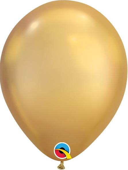 "7"" Qualatex Chrome Gold - 100 Ct."
