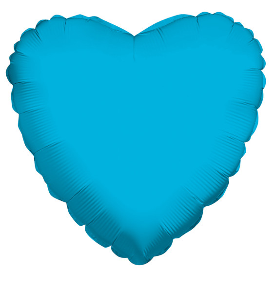 """18"""" Turquoise Blue Heart"""