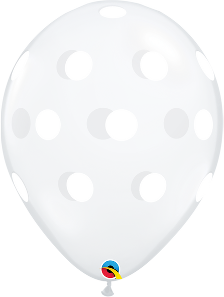 "11"" Qualatex Big Polka Dots - 50 Ct."