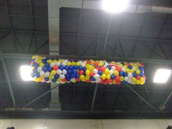 Balloon Drop Net, Clear Net 14' x 25'