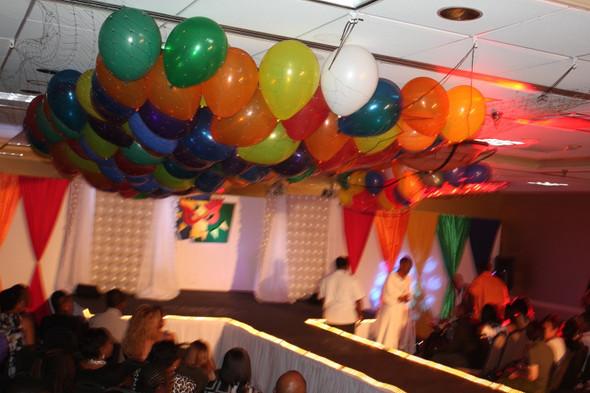 Balloon Drop Net, Clear Net 14' x 17'