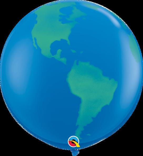 "36"" Qualatex Globe Latex Balloons 2 ct"