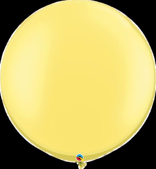"30"" Qualatex Pearl Lemon Chiffon Latex Balloons 2 ct"