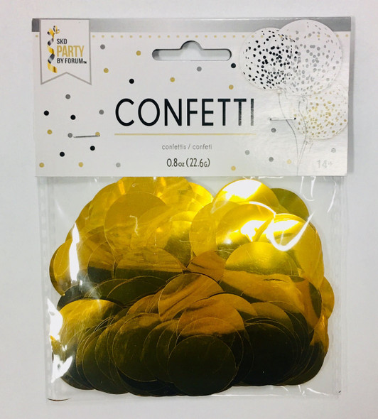 0.8 oz Metallic Gold Confetti Dots