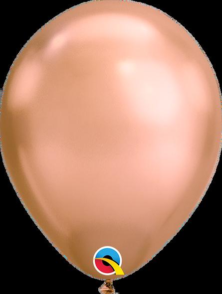 "7"" Qualatex Chrome Rose Gold - 100 Ct."