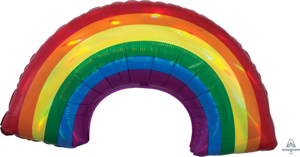 "34"" Holographic Iridescent Rainbow"