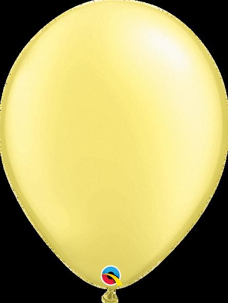"""16"""" Qualatex Pearl Lemon Chiffon - 50 Ct."""
