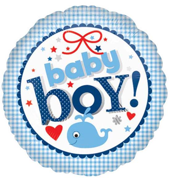 "18"" New Baby Boy Gingham"