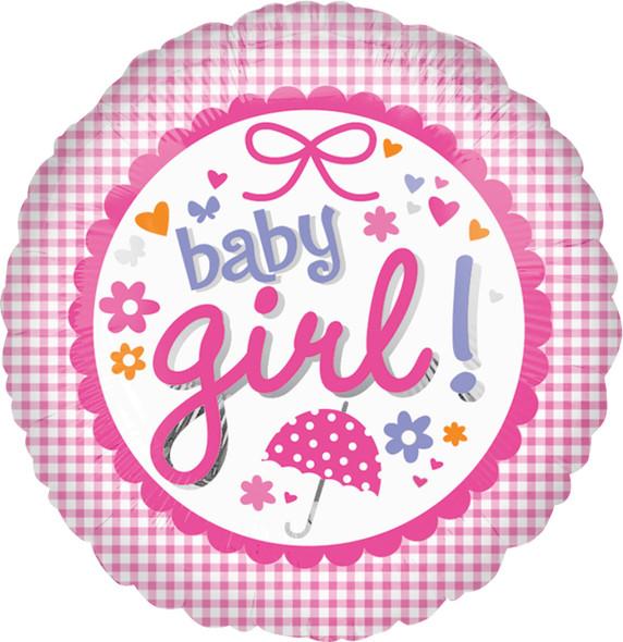 """18"""" New Baby Girl Gingham"""