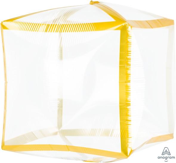 """15"""" Cubez - Gold Trim 3 Ct."""
