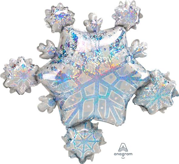 "30"" Prismatic Snowflake Cluster"