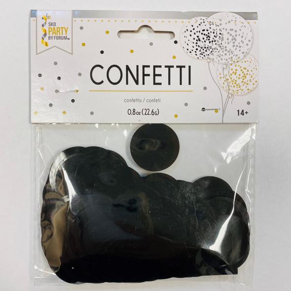 0.8 oz Metallic Black Confetti Dots