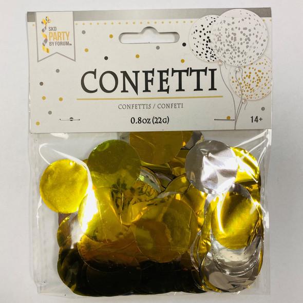 0.8 oz Metallic Gold and Silver Confetti Dots