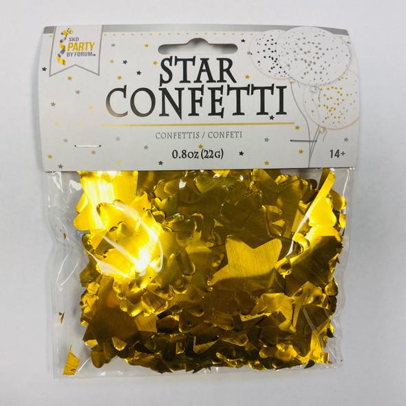 0.8 oz Gold Star Confetti