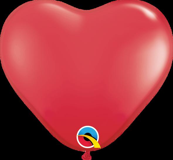 "11"" Qualatex Red Heart Latex - 100 Ct."