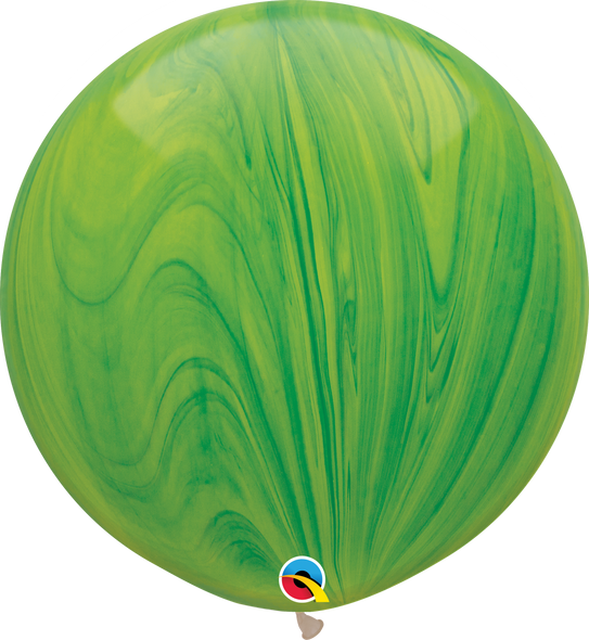 "30"" Qualatex Superagate Green Rainbow - 2 Ct."