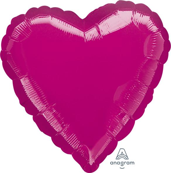 "18"" Solid Fuchsia Heart"