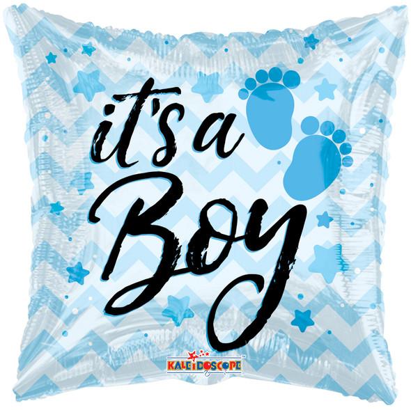 """18"""" It's a Boy Chevron"""