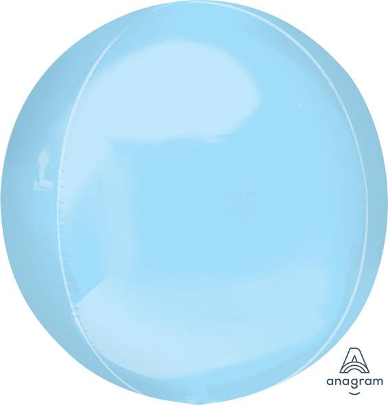 "16"" Pastel Blue Orbz - 3 ct"