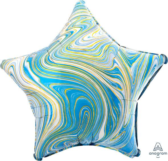 """17"""" Blue Star Marblez - 1 Ct."""
