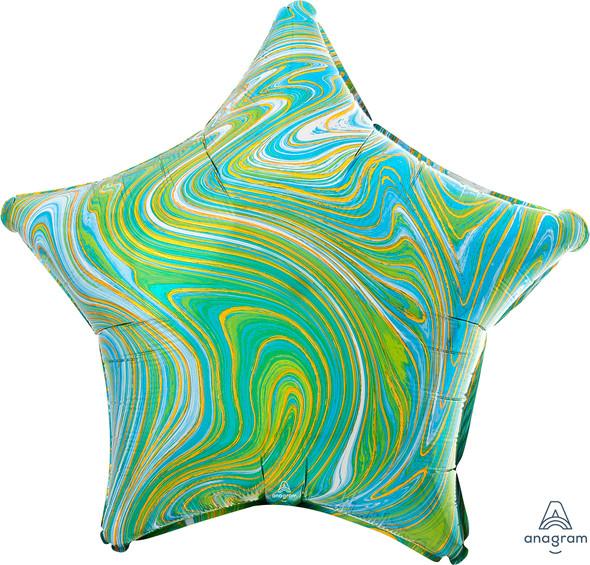 "17"" Blue Green Star Marblez - 1 Ct."