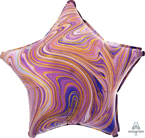 "17"" Purple Star Marblez - 1 Ct."