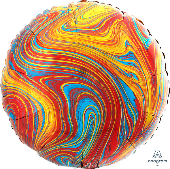 """17"""" Colorful Round Marblez - 1 Ct."""