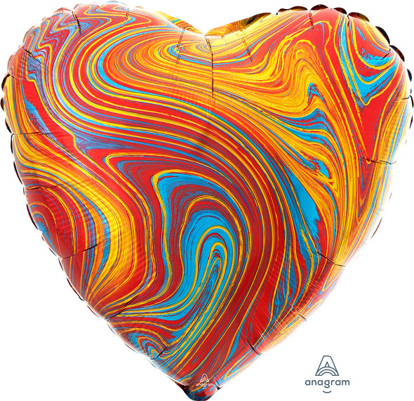 """17"""" Colorful Heart Marblez - 1 Ct."""