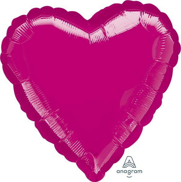 "32"" Solid Fuchsia Heart"