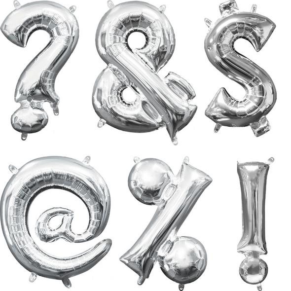 "16"" Silver Symbols - AIR FILL"