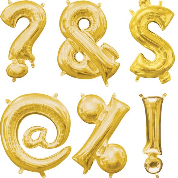 """16"""" Gold Symbols - AIR FILL"""