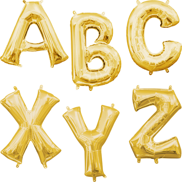 """16"""" Gold Letters - AIR FILL"""