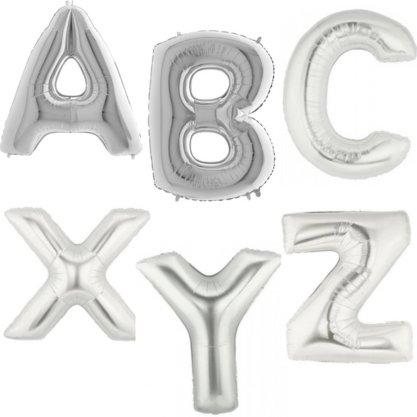"""40"""" Silver Letters"""