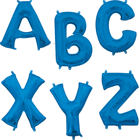 "34"" Blue Letters"